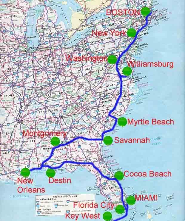 Boston Cartina Stati Uniti.Cartina 2004